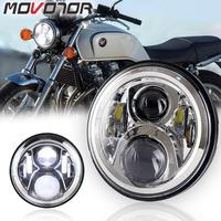 7 Inch Headlight LED Hornet 250 Headlight Hi/Lo Beam for Honda VTR250 X4 CB400sf NC39 NC42 CB750 Zephyr 400
