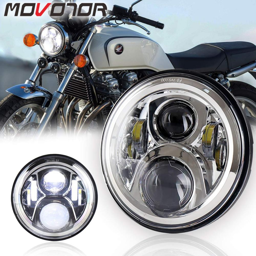 7 Inch <font><b>Headlight</b></font> LED Hornet 250 <font><b>Headlight</b></font> Hi/Lo Beam for <font><b>Honda</b></font> <font><b>VTR250</b></font> X4 CB400sf NC39 NC42 CB750 Zephyr 400 image