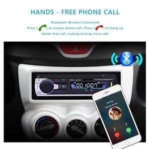 Image 3 - Bluetoothステレオサブウーファー車ラジオ1.din hd 12ボルトインダッシュusb。fmラジオaux入力レシーバーsd mmc mp3オートマルチメディアプレーヤー
