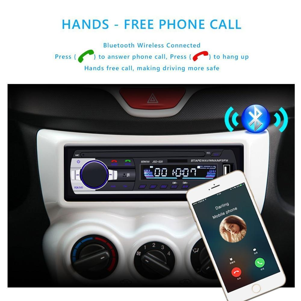Image 3 - Bluetooth stereo subwoofer car radio 1.din hd 12V In dash USB .FM Radio Aux Input receiver SD MMC MP3 auto multimedia Player-in Car Radios from Automobiles & Motorcycles