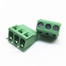 100 pz KF128 5.0 3P PCB Terminal Block Vite Connettore KF128 3P KF128 Vite Pin Passo 5.0mm Dritto terminale di Collegamento blocco