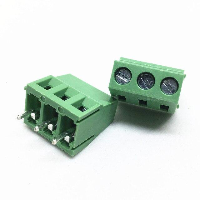 100 stks KF128 5.0 3P PCB Schroef Blokaansluiting KF128 3P KF128 Schroef 3Pin Pitch 5.0mm Rechte Verbinding klemmenblok