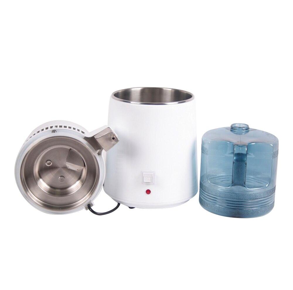 Internal Pure Water Distiller Filter Machine Distillation Purifier Equipment Stainless Steel Water Distiller Water Purifier 4L - 2