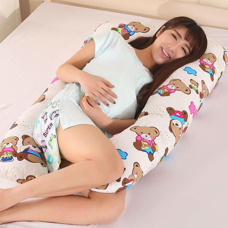 Pillow gravidanza per Le Donne Incinte Confortevole Cuscino Di Maternità Incinta Dormire Biancheria Da Letto Cuscini A Forma di U Cuscini Corpo