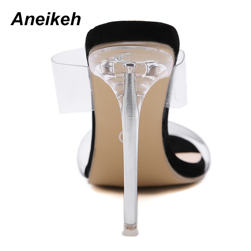 Aneikeh 2018 PVC Jelly Sandals Open Toe High Heels Women Transparent  Perspex Slippers Shoes Heel Clear Sandals Size 35 40 -in High Heels from  Shoes on ... 9e1c1bc836c5