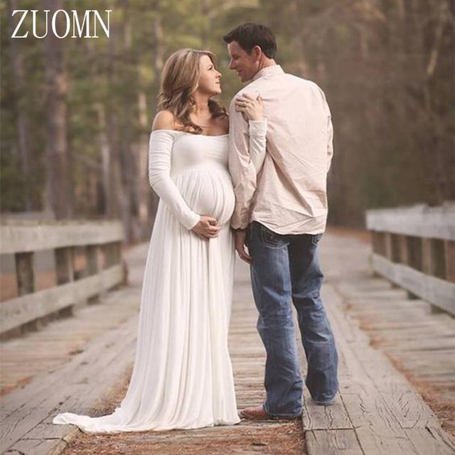 Adereços fotografia de maternidade dress gaze vestidos das mulheres grávidas mulheres grávidas longo dress sessão de fotos foto dress yl405