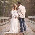 Dress gasa de apoyos de la fotografía de maternidad embarazada mujeres long dress sesión de fotos vestidos de las mujeres embarazadas de fotos dress yl405