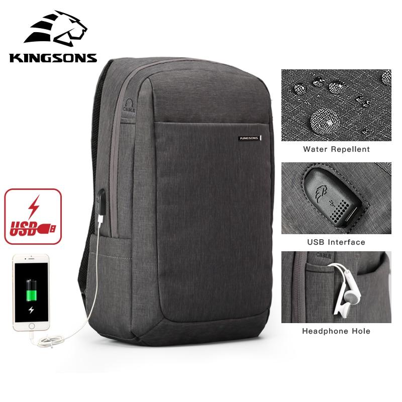 Kingsons กันกระแทก Air Cell Cushioning กระเป๋าแล็ปท็อปแท็บเล็ตกระเป๋าเป้สะพายหลังชาย & หญิง Overnighter กันน้ำ Anti   theft Mochila-ใน กระเป๋าเป้ จาก สัมภาระและกระเป๋า บน   3