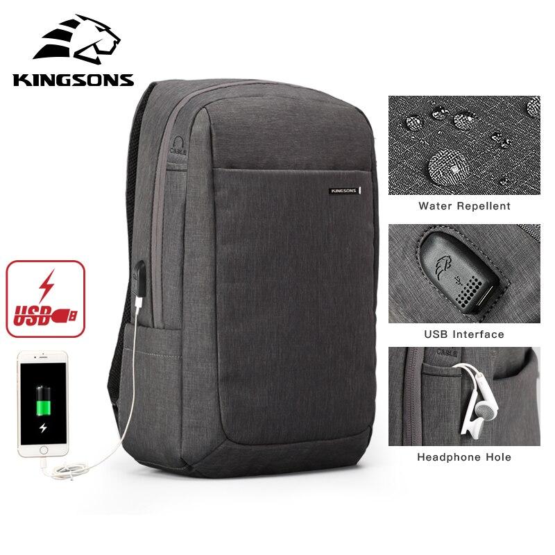 Kingsons antichoc Air Cell sac d'amortissement ordinateur portable tablette sac à dos homme et femme surnombre étanche Anti-vol Mochila