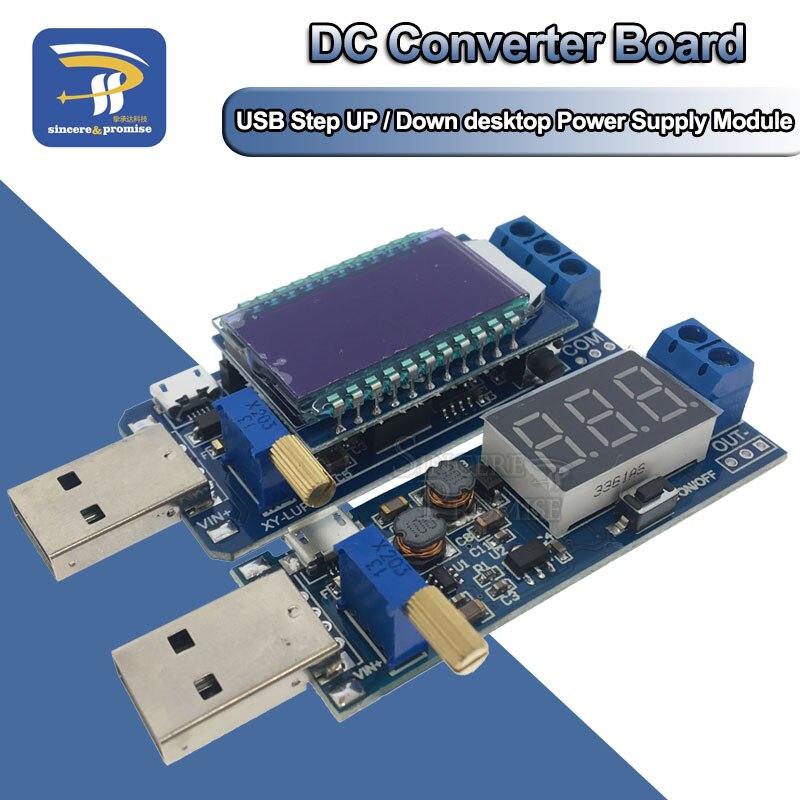 Блок питания для настольного ПК с ЖК-дисплеем и USB, 5 В-3,5 В/9 В/12 В, понижающий преобразователь напряжения с регулируемым повышением, вольтметр...