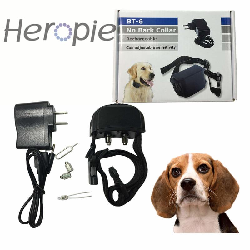 Heropie ใหม่ล่าสุดเทรนเนอร์สุนัขช็อกสั่นแบบชาร์จไฟได้และกันน้ำไฟฟ้าสัตว์เลี้ยงปลอกคอฝึกสุนัข