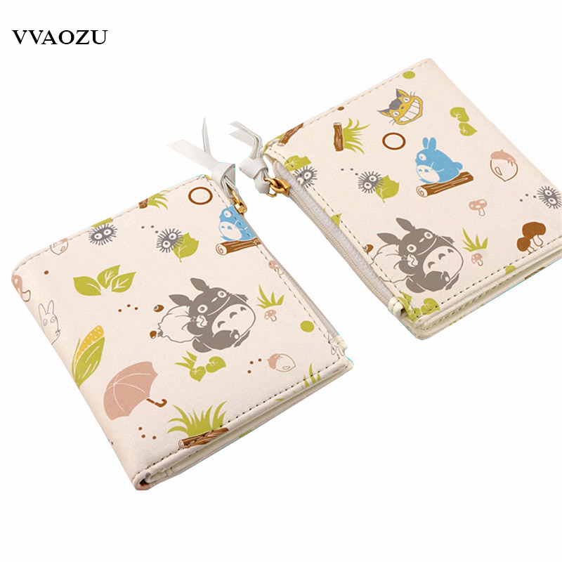 Natsume Yuujinchou Short Wallet My Neighbor Totoro Love Live Neko Atsume Women Cute Purse with Coin Pocket ID Card Holders 2016 new design women cute wallet my neighbor totoro cute fashion cartoon woman bifolded wallet girl students long purse