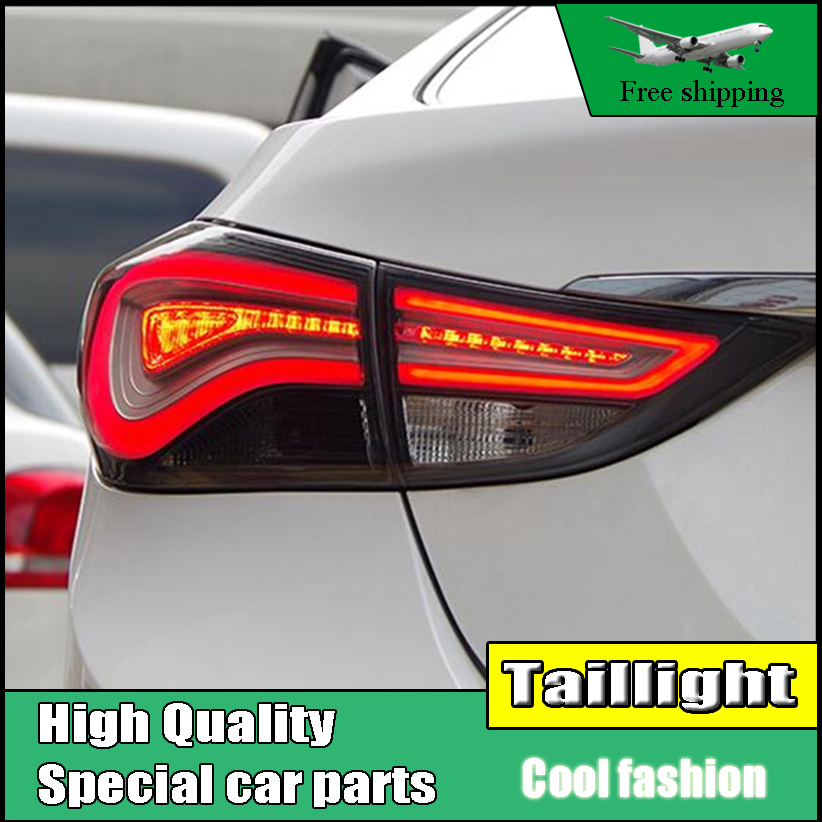 Car Styling Case For Hyundai Elantra 2012-2015 Taillights LED Tail Light LED Rear Lamp DRL+Brake+Reversing+Signal Automobile car styling case for hyundai elantra taillights tail lights led tail lamp rear lamp drl turn signal brake reverse