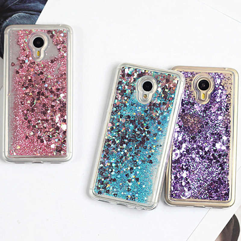 Glitter Bling Cover For Meizu on M5s Case Silicon For Meizu M5 Note Cases MX6 Pro 6 Dynamic Liquid M6S M3S Quicksand Cases Coque