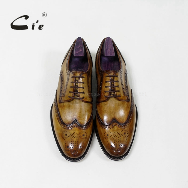 Ci'e –  Goodyear welted, custom handmade men's leather shoe,100% genuine calf leather, men's flats dress suit shoe.