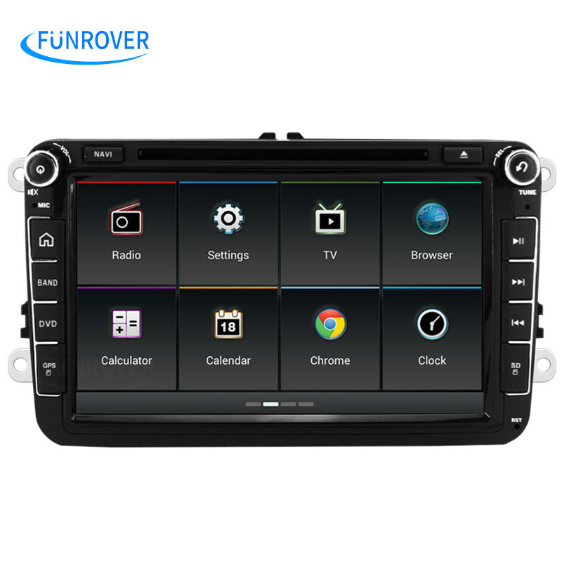 New OEM Car Radio For VW 8 inch Double 2 Din Car Multimedia Player GPS Navigation DVD Player Car Audio Stereo Auto Head Unit