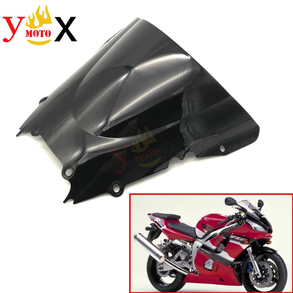 POSSBAY Motorcycle Windshield Windscreen Double Bubble