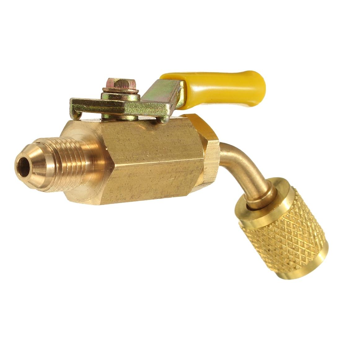 Sanitär R410a R134a Messing Geschlossen Ventil Für A/c Lade Schläuche Hvac 1/4 Zoll Ac Kältemittel GläNzend