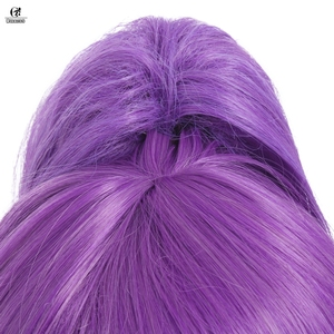 Image 5 - ROLECOS LOL Janna Cosplay Headwear Star Guardian Janna Cosplay Hair Magical Girl Game Cos Long Purple Synthetic Hair 50 55cm