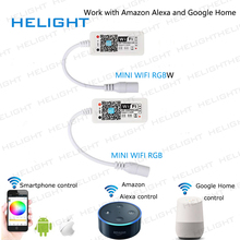 Dc12-28v мини WI-FI RGB/rgbw полосы контроллер музыка контроллер Amazon Alexa Google домашний телефон WI-FI контроллер для полосы свет(China)