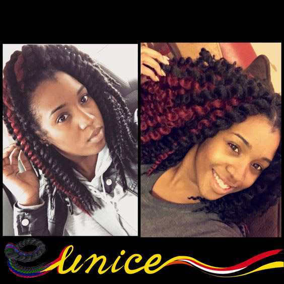 African Hair Style Short Braids 12 16inches Havana Mambo Twist Crochet Extension Kids