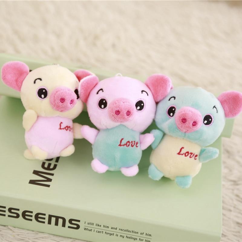 Hot Sale 3pcs Set 12cm Lovely Cartoon Animal Small Pig Plush Toy