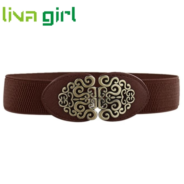 Clothing Dress Apparel Accessories Fashion Charming Vintage Waist Cummerbund Women Lady Wide Elastic Waistband Belt Strap Dec22