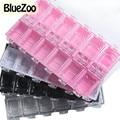 BlueZoo Calidad Superior 12 Grids Caja Desmontable de Almacenamiento de Plástico Granos de la Joyería Rhinestone Del Arte Del Clavo Caja de Pastillas Nail Art Decoraciones