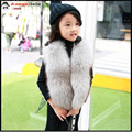 Children's Real Fox Fur Vest Baby Kids Autumn Winter Thick Warm Short Natural Fur Outerwear Vest Solid Short Solid Vests V#10