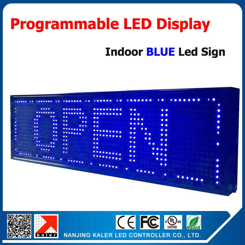 HOT Sale  outdoor programmable led signs open led advertising display screen 1/4 p10 single blue led display message 27*8HOT Sale  outdoor programmable led signs open led advertising display screen 1/4 p10 single blue led display message 27*8