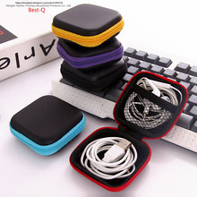 Free shipping mobile phone data line charger, finger tip gyro packing box, earphone storage bag, EVA earphone bag