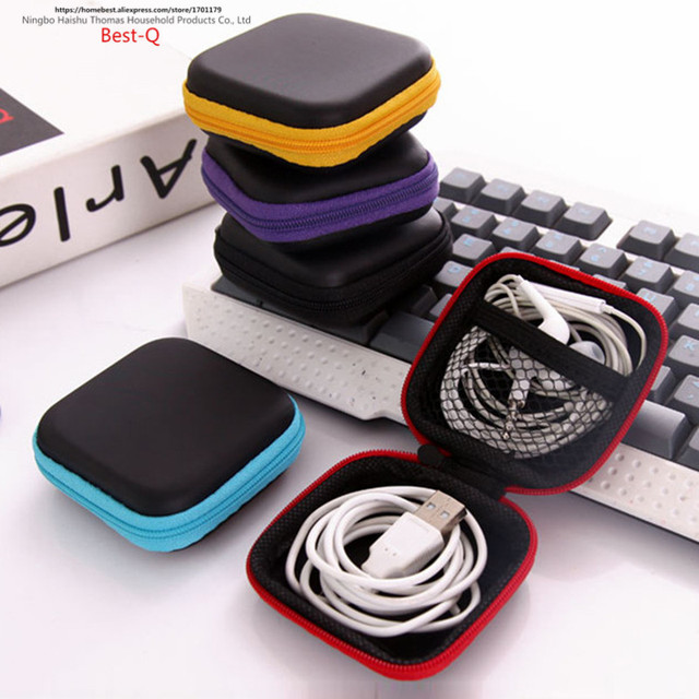 Free shipping mobile phone data line charger, finger tip gyro packing box, earphone storage bag, EVA earphone bag