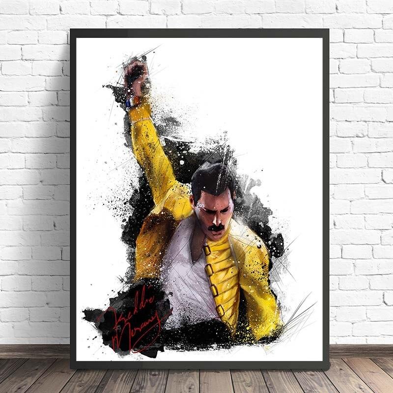 Freddie Mercury Queen HD lona pintura dormitorio Casa Decor moderno arte de pared pintura cartel salón fotos marco