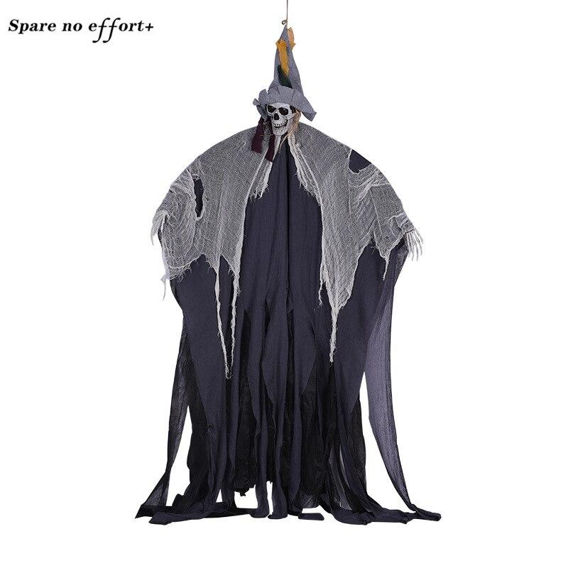 200 cm décor halloween sorcière horreur prop poupée sorcière sorcière décor soie décor halloween Party bricolage Décorations
