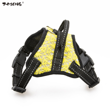 T-MENG New Puupy Small Dog Harness Reflective Breathable Nylon Mesh Vest Cat Goods For Dogs k9 Chihuahua Chest Strap 27
