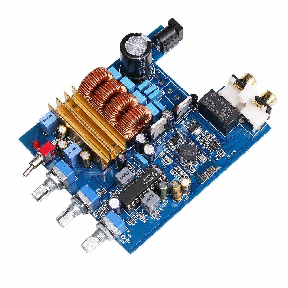 K GUSS Class D 2 0 TPA3116 LM1036 Bluetooth CSR4 0 HIFI audio Amplifier Board Treble