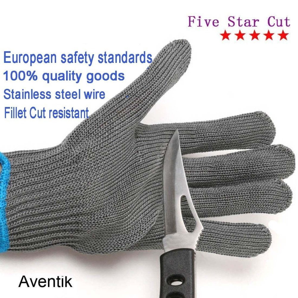 FILLET GLOVE  STAINLESS STEEL      MADE IN USA