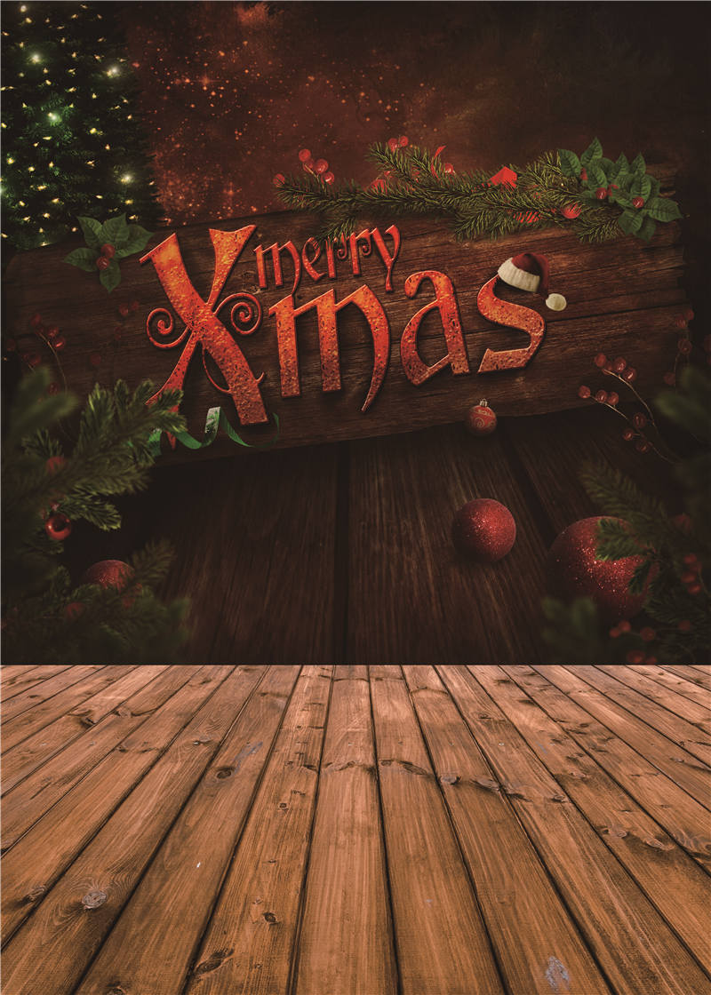 Photo Background Christmas for Baby Studio Props Vinyl Wooden Floor Photography Backdrops 5x7ft or 3x5ft Jiesdx060