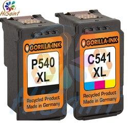 Hisaint 2 Druckerpatronen XL dla Canon PG-540 i CL-541 Pixma MX475 MX395 MX435 MX455 darmowa wysyłka