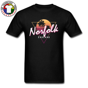 Norfolk Vintage England Sunset Hawaii Vaporwave Man T Shirt Graphic Geometric Landscape Delta Sigma T-Shirt Drop Shipping
