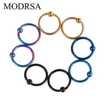 MODRSA 2pcs/lot 16G Captive Bead Rings Ball Closure Body Hoop Septo Nose Lip Women Eyebrow Ear Septum Cartilage Helix Jewelry image