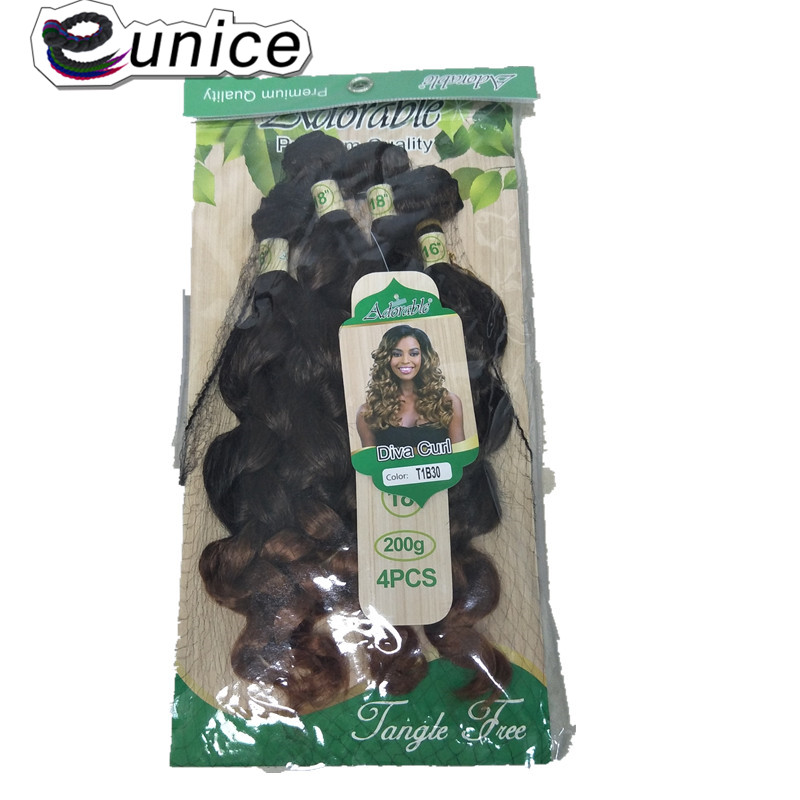 synthetic Weaving deep loose wave for black  (9)