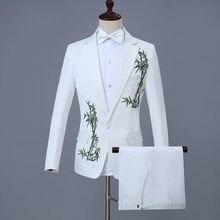 b382d51601dc6 Por encargo Groomsmen novio esmoquin blanco mantón de la solapa mejor hombre  hombres traje de boda (chaqueta + Pantalones + arco.