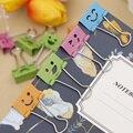 10 шт. Полезная улыбка Binder зажимы для офис книги файл Бумага Организатор клип еда сумка зажимы Примечание зажимы 19 мм широкий школьный подарок - фото