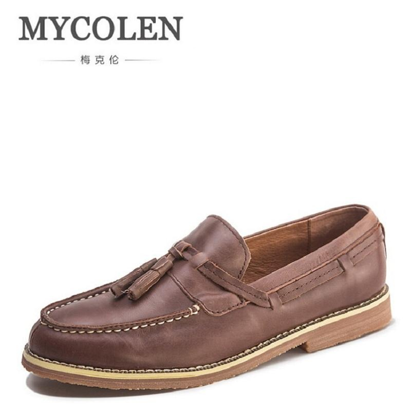 MYCOLEN High Quality Leather Men Shoes Soft Moccasins Loafers Fashion Brand Men Flats Comfy Male Casual Shoes sapato masculino male casual shoes soft footwear classic loafers men leather shoes fashion high quality business shoes male aa30142