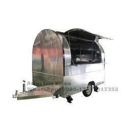 Dostępne światła LED najlepiej sprzedający się mobilny szybki pojazd do serwowania żywności ze stali nierdzewnej na sprzedaż  wózki spożywcze|Roboty kuchenne|   -