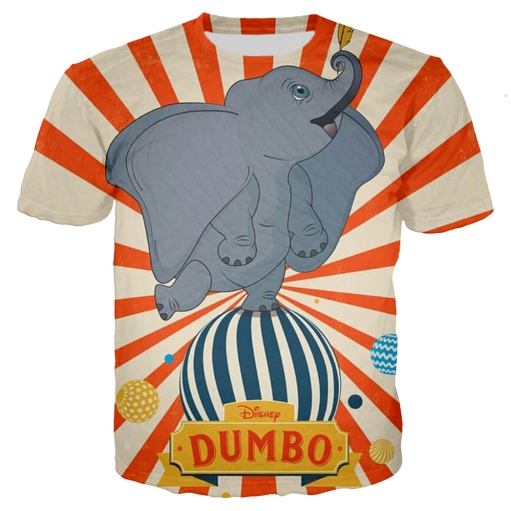 Kids T shirt Children Dumbo 3D print tshirt baby Boys Cartoon Cute Elephant tees Teens summer Clothes Girls women unisex tops in T Shirts from Men 39 s Clothing