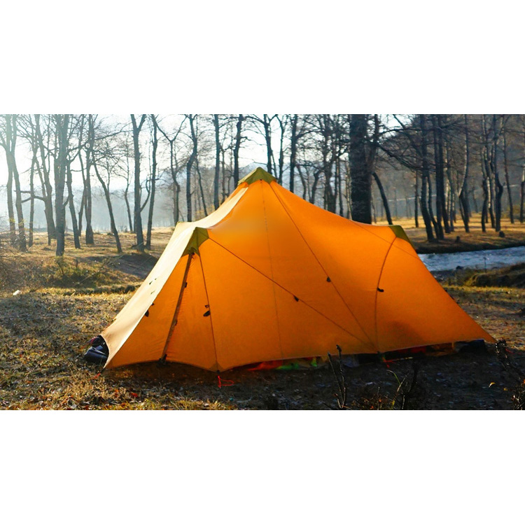 1240G Camping Tent Ultralight 6-8 Person Outdoor 20D Nylon Both Sides Silicon Coating Rodless Large Space Tent Triangle 4 Season high quality outdoor 2 person camping tent double layer aluminum rod ultralight tent with snow skirt oneroad windsnow 2 plus