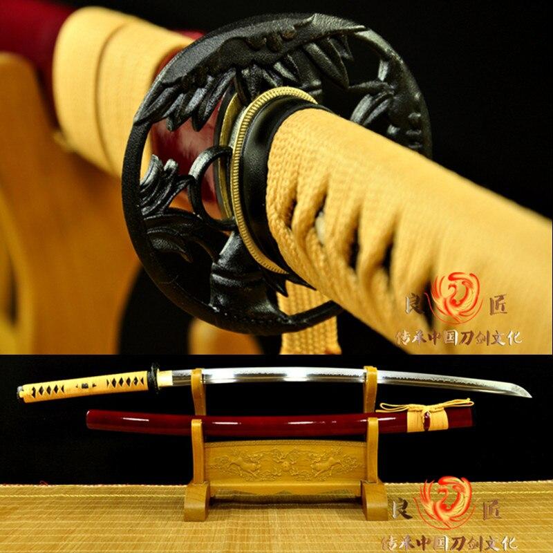 HANDMADE JAPANESE  KATANA SWORD CLAY TEMPERED NEW STYLE HAMON BLADE