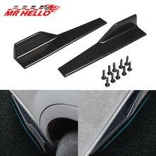 2Pcs/Pair Car Universal Carbon Fiber Modified Body Side Skirt Rocker Splitters Anti-Scratch Winglet 45cm Wings Bumper